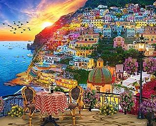 "Springbok Puzzles - Positano Italy - 1000 Piece Jigsaw Puzzle - 24 by 30"" - Made in USA - Unique Cut Interlocking Pieces, ..."