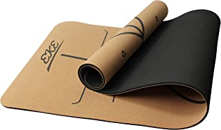 EKE Cork Yoga Mat - Non-Slip Sweatproof Surface - 100%...