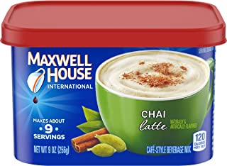 Maxwell House International Cafe Chai Latte Instant Coffee (36 oz Canisters, 4-Count)