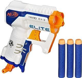 Nerf A1690 N-Strike Elite Triad EX-3 Blaster, White- For Boys