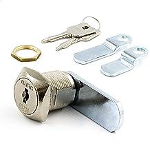BURG Hefboomslot, 20 mm, verschillend sluitend hoekig (universele cilinder, brievenbusslot, meubelslot)
