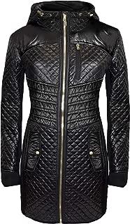 Michael Michael Kors Black Mixed Media Coat
