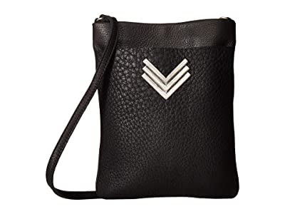 Leatherock Rebel Cell Pouch (Black) Cross Body Handbags