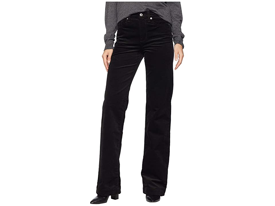 Image of 7 For All Mankind Alexa in Black Luxe Cord (Black Luxe Cord) Women's Jeans