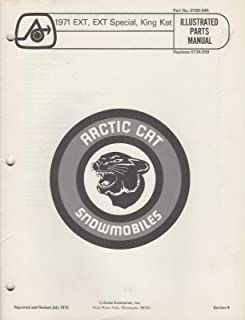 1971 ARCTIC CAT SNOWMOBILE EXT, EXT SPECIAL,KING KAT PARTS MANUAL 0185-545 (207)