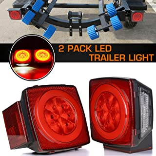 Linkitom 2019 New Halo Submersible LED Trailer Light, Super Bright Brake Stop Turn Tail License Lights for Camper Truck RV Boat Snowmobile Under 80