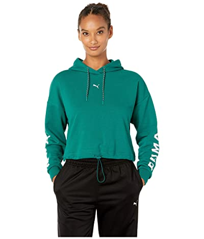 PUMA Chase Cropped Hoodie (Teal Green) Women