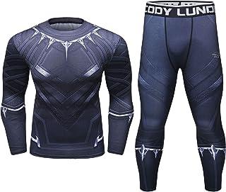 Cody Lundin Tight Sport Fitness Manches Longues /à Manches Longues imprim/é Compression /à Manches Longues Tops Hommes