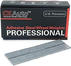 CKAuto 1/4oz, 0.25oz, Grey, Adhesive Stick on Wheel Weights, EasyPeel Type. Cars, Trucks, SUVs, Motorcycles, Low Profile, 60 oz/Box, U.S. OEM Quality, (240pcs)