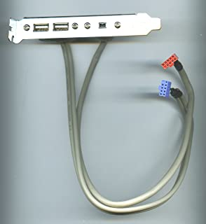 ASUS 2x USB 2.0 and 1x FIREWIRE IEE 1394a (4-pin) BRACKET