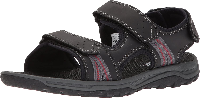 Rockport Men's TT 3 Strap Sandal, 12.5 UK, Black