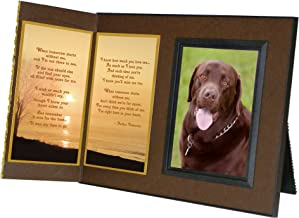 Pet Lover Remembrance Gift When Tomorrow Starts Without Me Pet Memorial Picture Frame Keepsake and Sympathy Gift Package