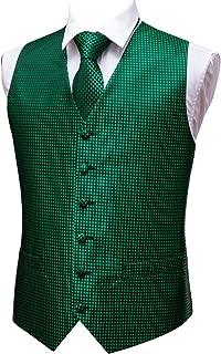 Formal Men Dress Vest Matched Paisley Tie Set Suit Waistcoat Wedding 5PCS