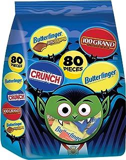Nestle Assorted Bulk Chocolate Halloween Candy Bag, Fun Size Mix of Butterfinger, Butterfinger Cups, Crunch & 100 Grand, 38.4 Ounce