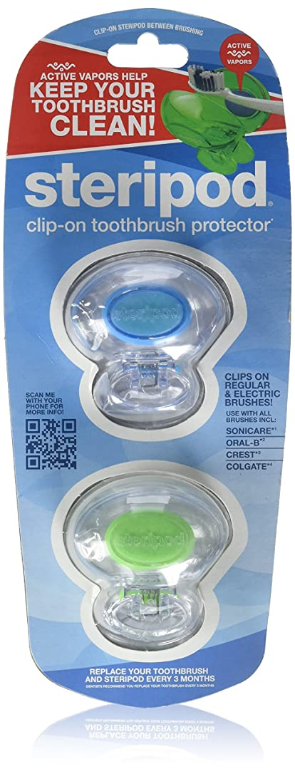タヒチ反逆者嵐のBonfit America Inc., Steripod, Clip-On Toothbrush Protector, 2 Pack