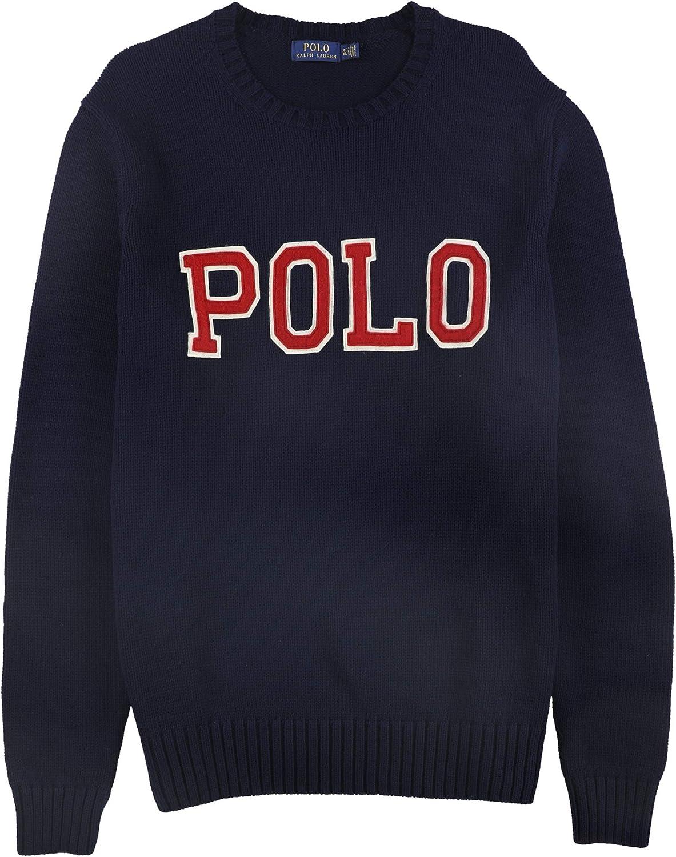 Ralph Lauren Mens Logo Graphic Pullover Sweater