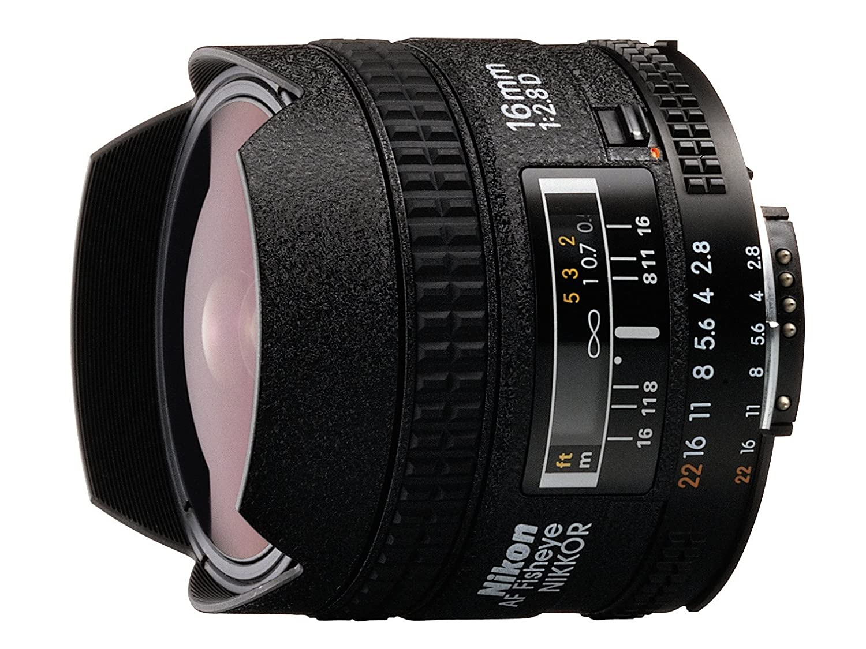 Nikon AF FX Fisheye-NIKKOR 16mm f/2.8D Fixed Lens