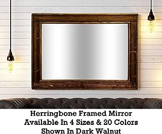 Best brown framed bathroom mirror Reviews