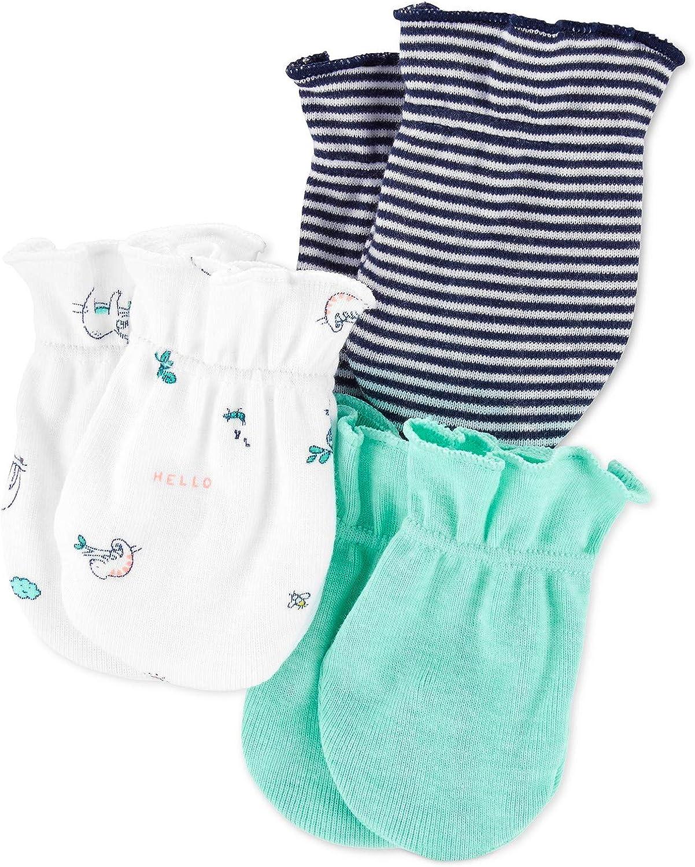 Baby Boys 3-Pack Printed Mittens Set