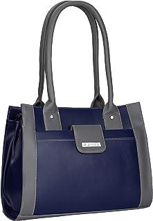 Aisna Women's Trendy Handbag (ASN-190)(Grey,Blue)