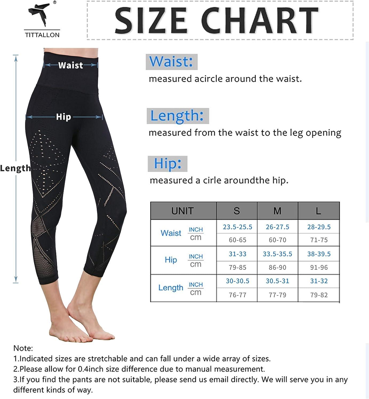 TITTALLON Yoga Leggings for Women High Waist Workout Pants with Pockets