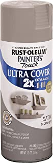 Rust-Oleum 249855 Painter's Touch 2X Ultra Cover, 12-Ounce, Satin Stone Gray