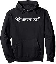 I Don't Care in Punjabi Language Enthusiast Hobbyist Ironic Pullover Hoodie