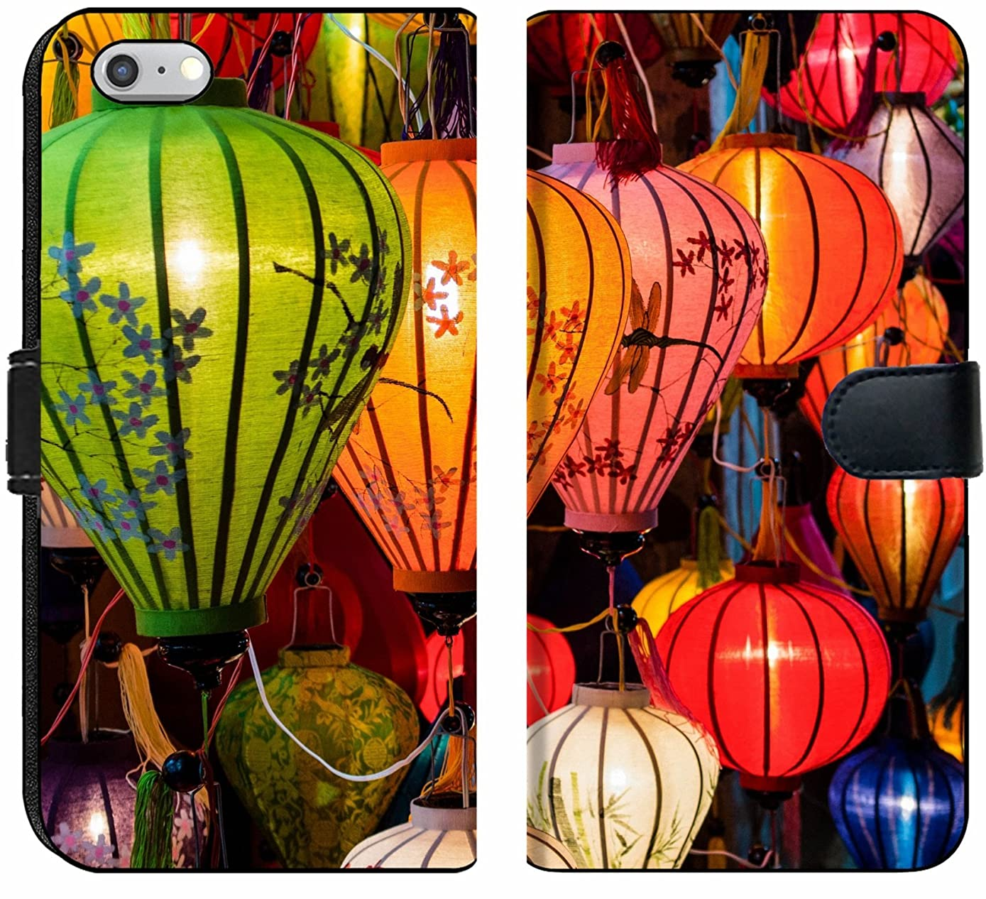 Apple iPhone 6 and iPhone 6s Flip Fabric Wallet Case Image ID: 31089698 Traditional Lamps in Old Town Hoi an Central Vietnam