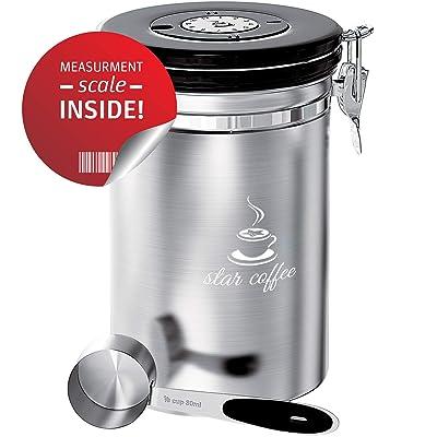 Star Coffee Container Airtight Coffee Storage -...