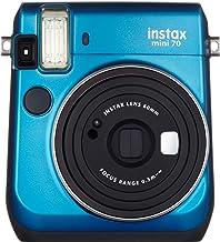 Instax Fujifilm Mini 70 - Cámara Analógica Instantánea (ISO 800, 0.37x, 60 mm, 1:12.7, Flash Automático, Modo Autorretrato, Exposición Automática, Temporizador, Modo Macro), Azul Caribe