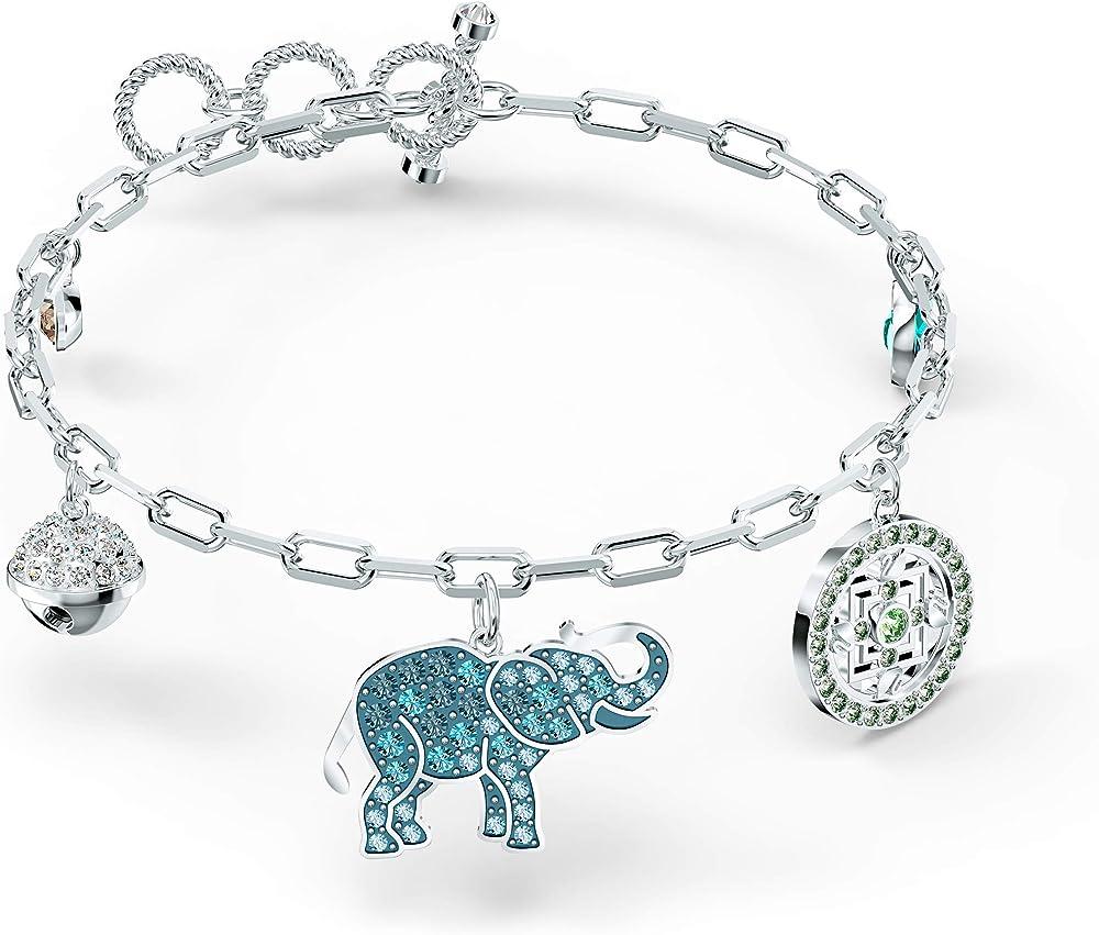Swarovski braccialetto symbolic elephant, multicolore chiaro, placcato rodio 5521444