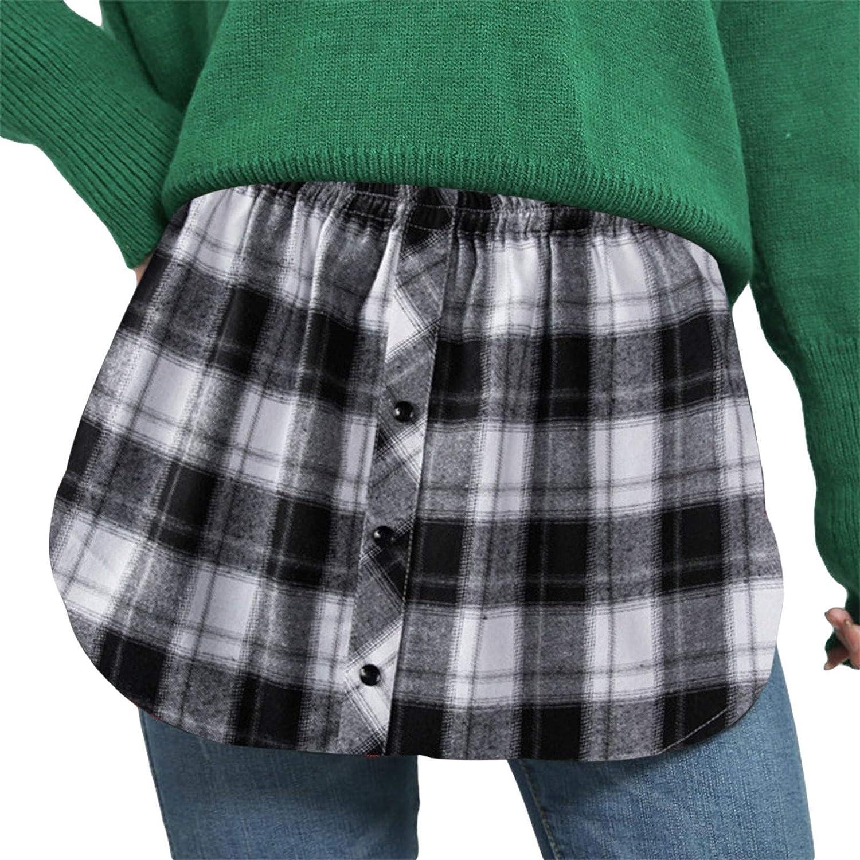 Madger Hoodie Sweater Fake Two Piece Bottom Skirt High Waist Skirt Varieties Styles Casual Street Wear Skirt