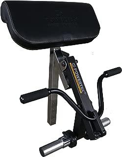Powertec Fitness Workbench Curl Machine Accessory Black