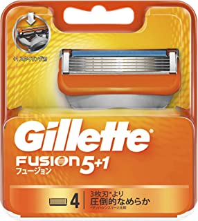 ジレット フュージョン5+1 マニュアル 髭剃り 替刃 単品 4個 (x 1)