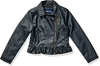Girls' Peplum Pu Moto Jacket