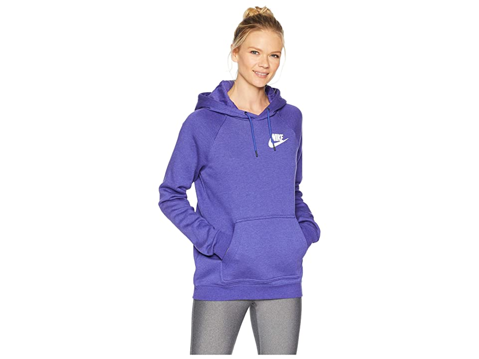 Nike Rally Hoodie (Light Concord/Heather/Light Concord/White) Women
