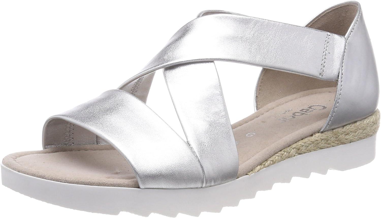 Gabor kvinnor Promise 82.711.10 läder läder läder Sandals silver  bästa mode