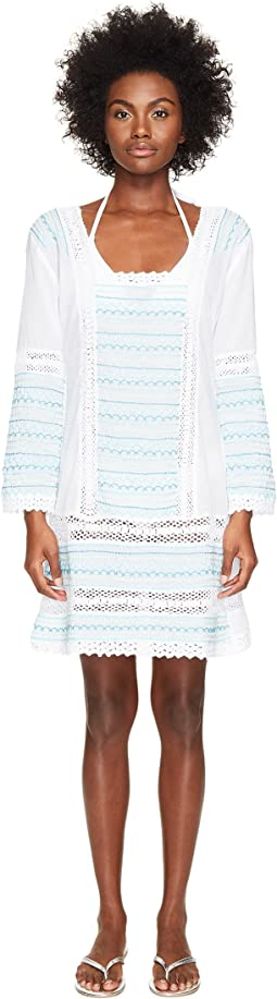 Letarte - Embroidered Long Sleeve Tunic Dress