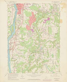 Historic Pictoric Map - USGS 7.5 Minute Sheets and Quadrangles, Broad Brook 1972 Topographic - Vintage Poster Art Reproduction - 24in x 18in