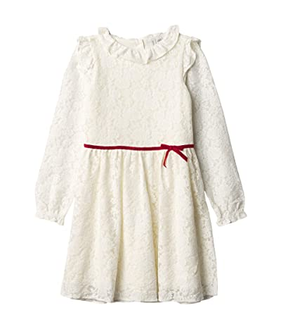 Janie and Jack Lace Dress (Toddler/Little Kids/Big Kids) (Ivory) Girl