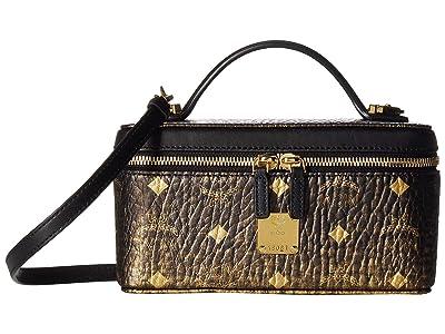 MCM Gradation Visetos Clutch with Strap (Gold) Handbags