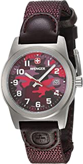Wenger Field Classic Color Purple Dial Nylon Strap Ladies Watch 010411103