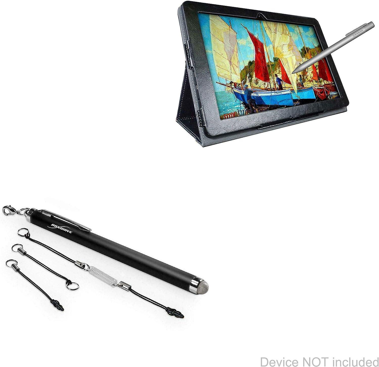 Simbans PicassoTab 10 Stylus Pen, BoxWave [EverTouch Capacitive Stylus] Fiber Tip Capacitive Stylus Pen for Simbans PicassoTab 10 - Jet Black
