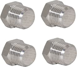 Joyway 4Pcs Stainless Steel Outer Hex Thread Socket Pipe Plug Fitting 3/8
