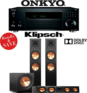 Onkyo TX-RZ820 7.2-Ch THX-Certified 4K Network AV Receiver + Klipsch RP-280FA + Klipsch RP-450C + Klipsch R-115SW - 3.1-Ch Dolby Atmos Package