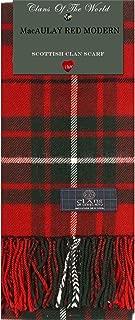MacAulay Modern Tartan Clan Scarf 100% Soft Lambswool