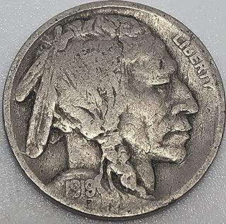 1919 P Buffalo Nickel Good