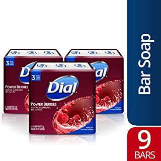 Dial Glycerin Soap Bars with Power Berries, 4 oz bars, 3 Count (Pack of 3)