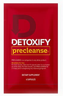 Detoxify – PreCleanse Herbal Supplement – 6 Capsules – Professionally Formulated PreCleanse Herbal Supplement – Perfect Start to Your Cleansing Program