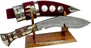 Srawen British Gurkha Kukri,Hand Forged Khukuri Blade, Full Tang Decorative Nepal Knife Bowie 15